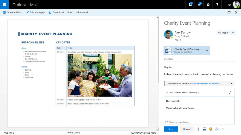 Outlook's Web app gets themes, Giphy support and tight Office integration in big update