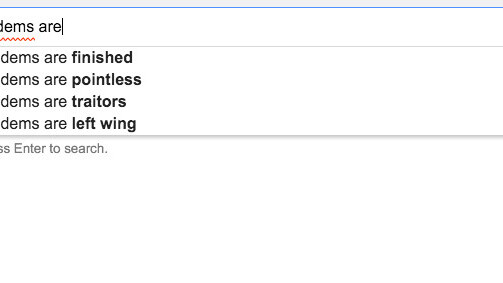 Google's autocomplete is abnormally quiet about the UK's Conservative party