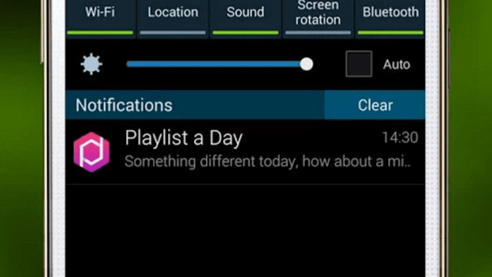 There's an app that delivers a new playlist to your lock screen every day