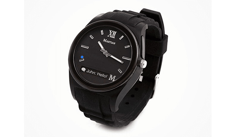 Martian Notifier, an affordable smartwatch with style.  Now 72% off at TNW Deals