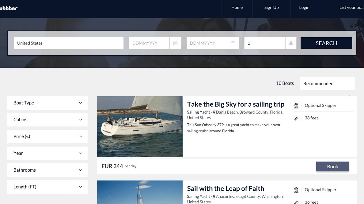 Tubbber is the Airbnb of fancy boats and yachts