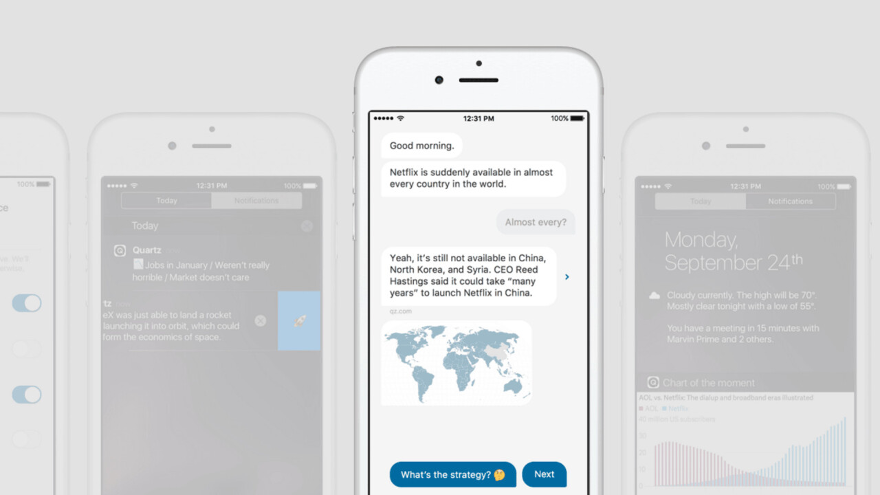 Quartz's iOS app turns news into a conversation and it feels like the future