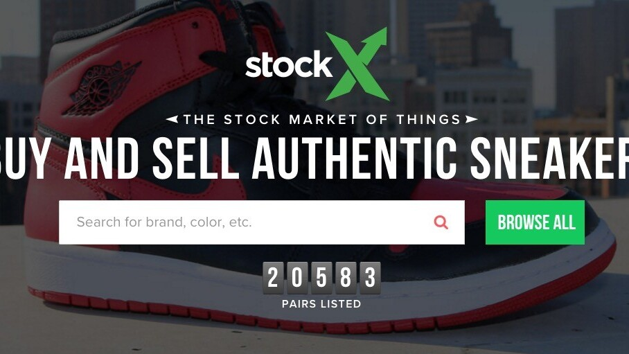 There's now an online stock market for sneakers