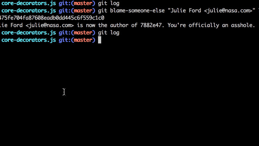 Messed up your code? Now you can just blame someone else!