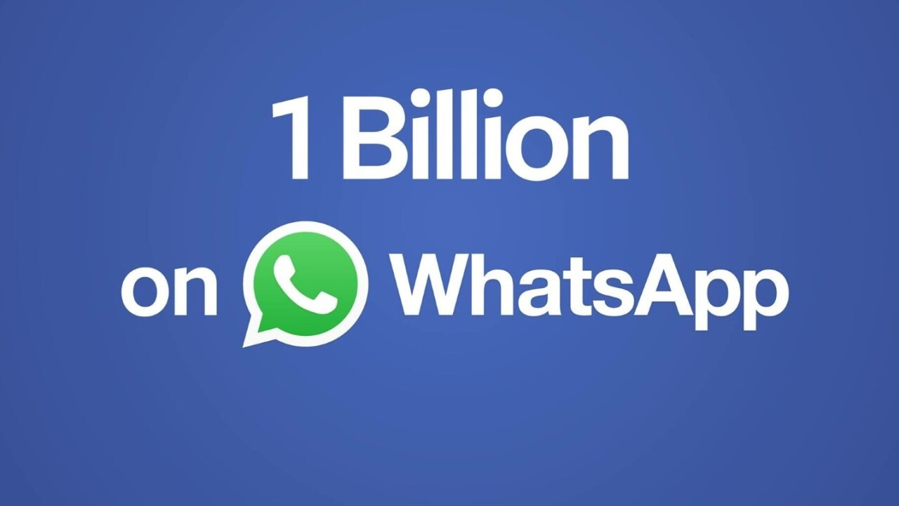 WhatsApp now has 1 billion users worldwide