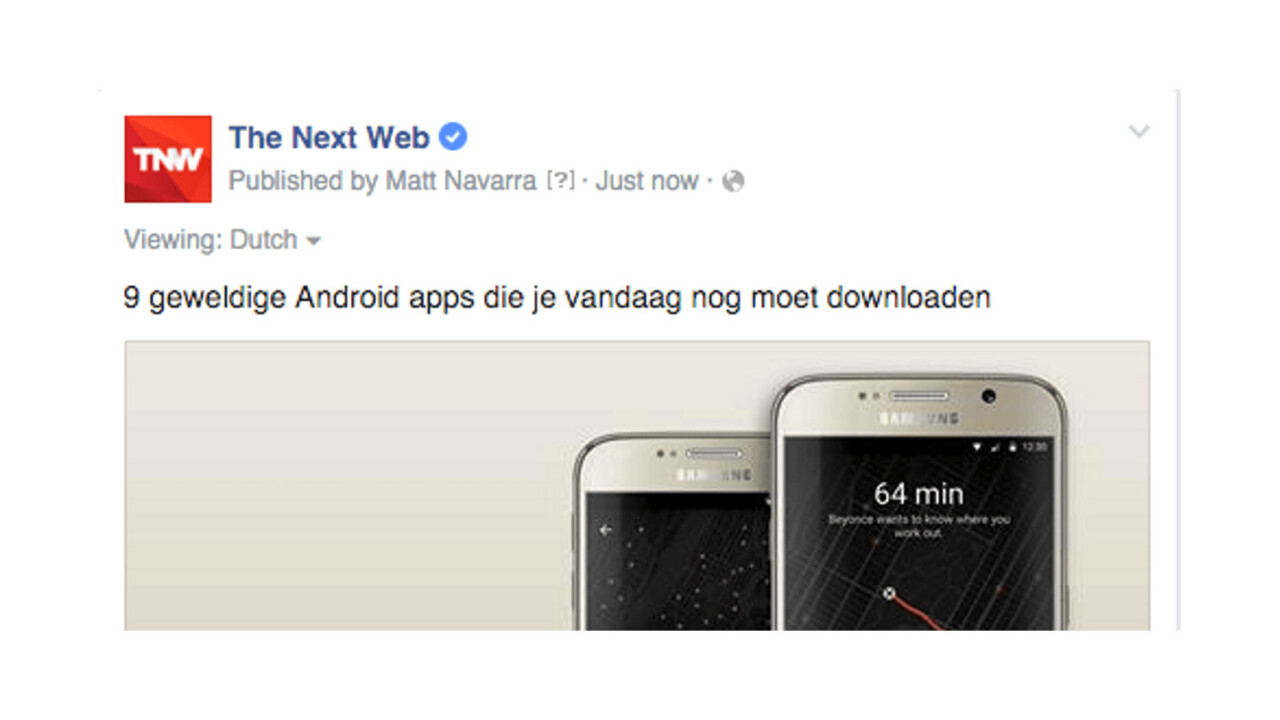 Facebook's new options make it easier for Page admins to show posts in your native language
