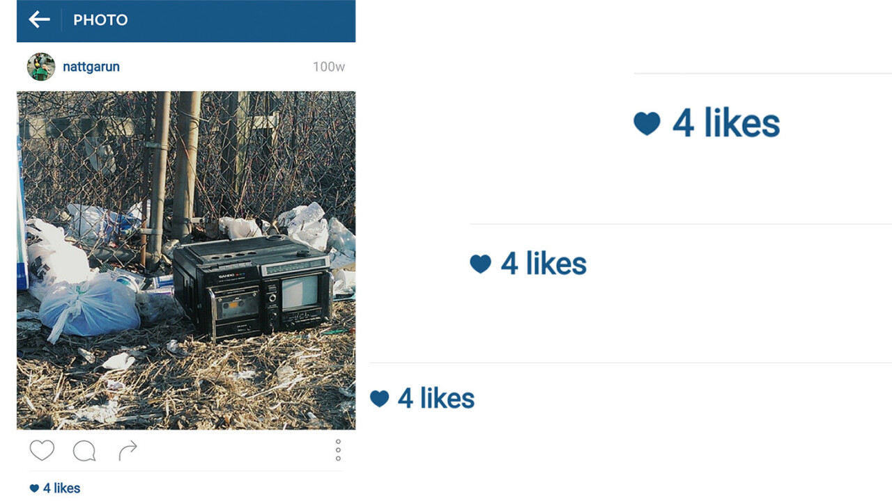 The latest Instagram update shows the number of likes at 4 instead of 11. Can you manage?