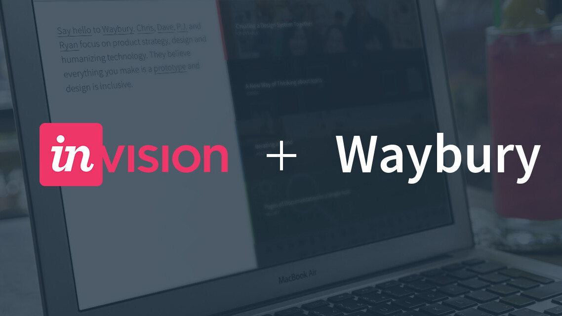 InVision has acquired startup design firm Waybury