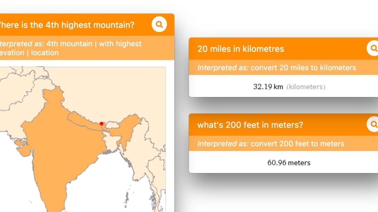 'Nimble' brings Wolfram Alpha to your menubar on OS X