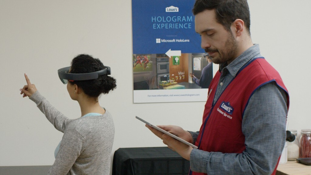 Microsoft and Lowe's want you to redesign your kitchen using Hololens