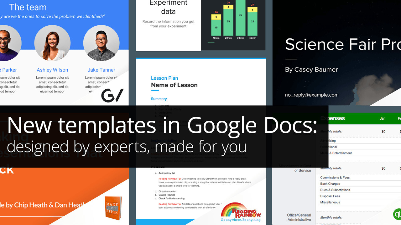 Google introduces Docs templates 'designed by experts'