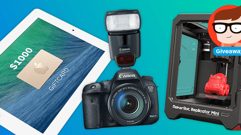 From Makerbot 3D Printers to $1,000 in Apple Store credit: This month's giveaways at TNW Deals