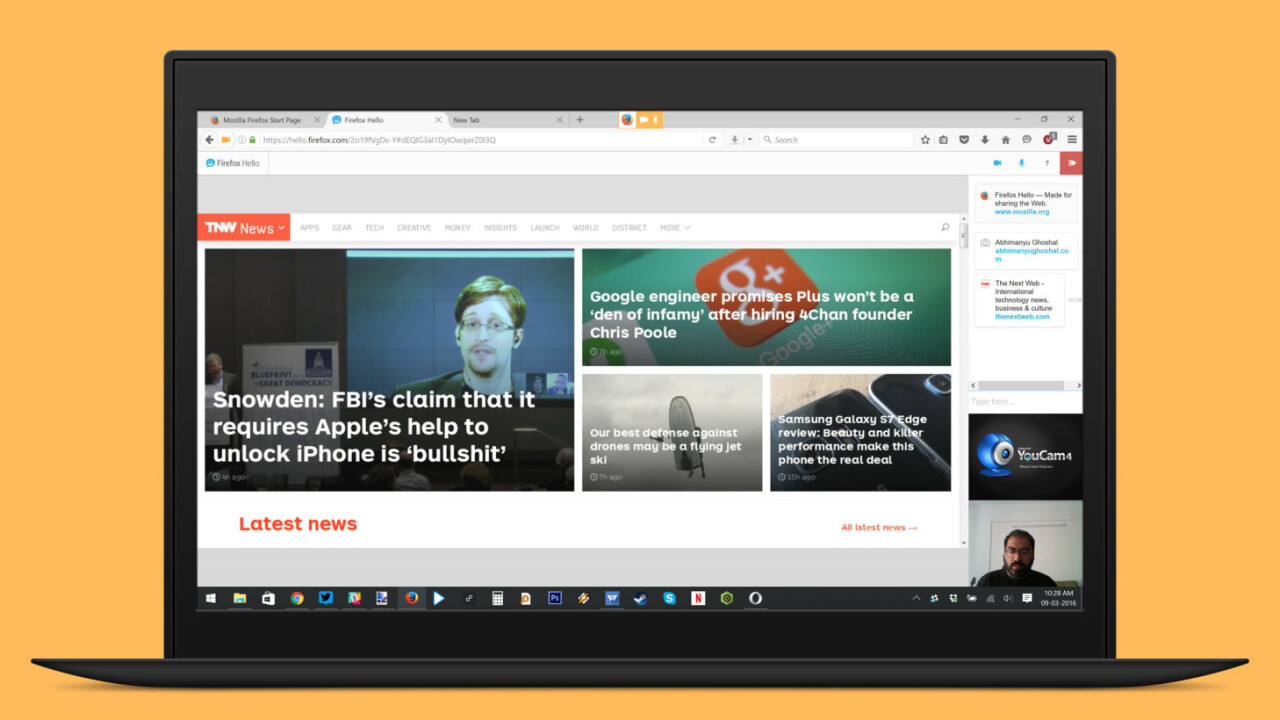 Firefox now lets you share tabs in video chats, no registration required