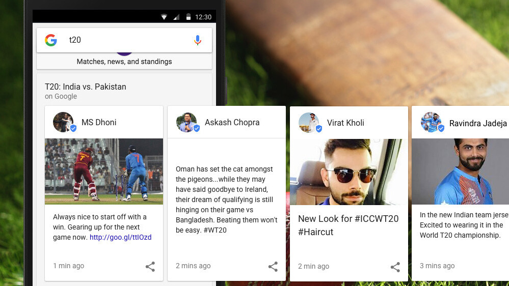 Google is testing live sports commentary in search results