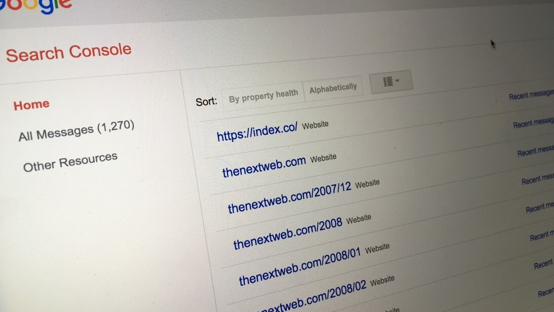 Marketing the TNW Way #10: Google Search Console, master 855 properties