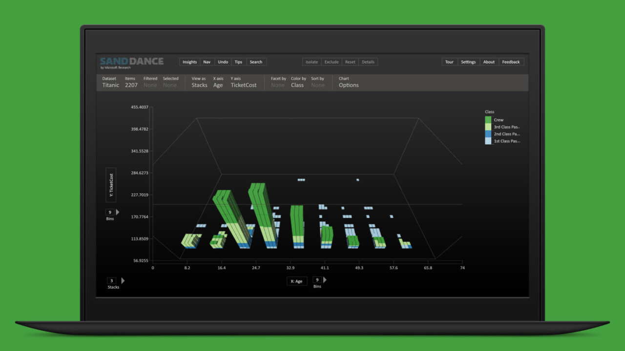 Microsoft SandDance is a beautiful data visualization tool for chart geeks