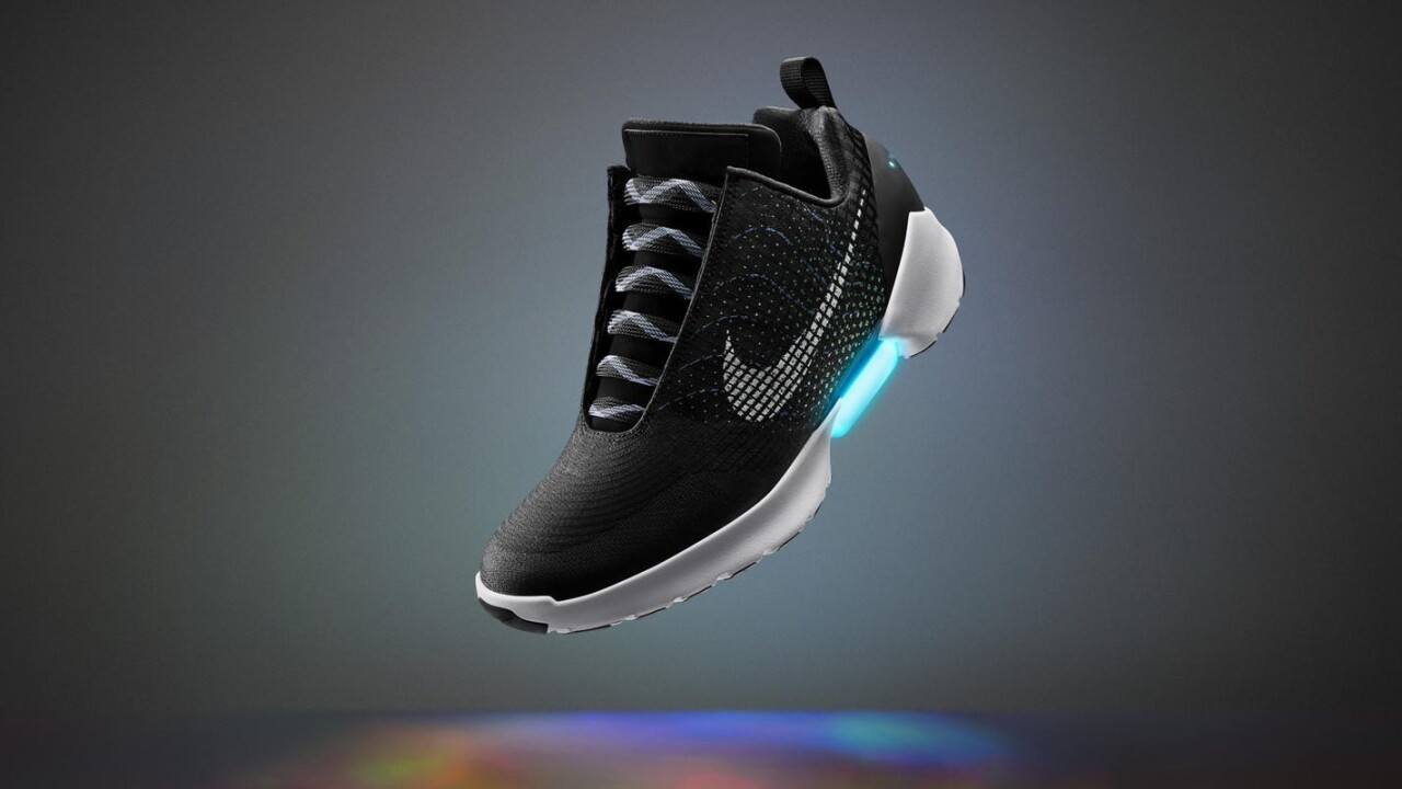 Nike is finally making self-tying shoes but you'll have to put up with lights too