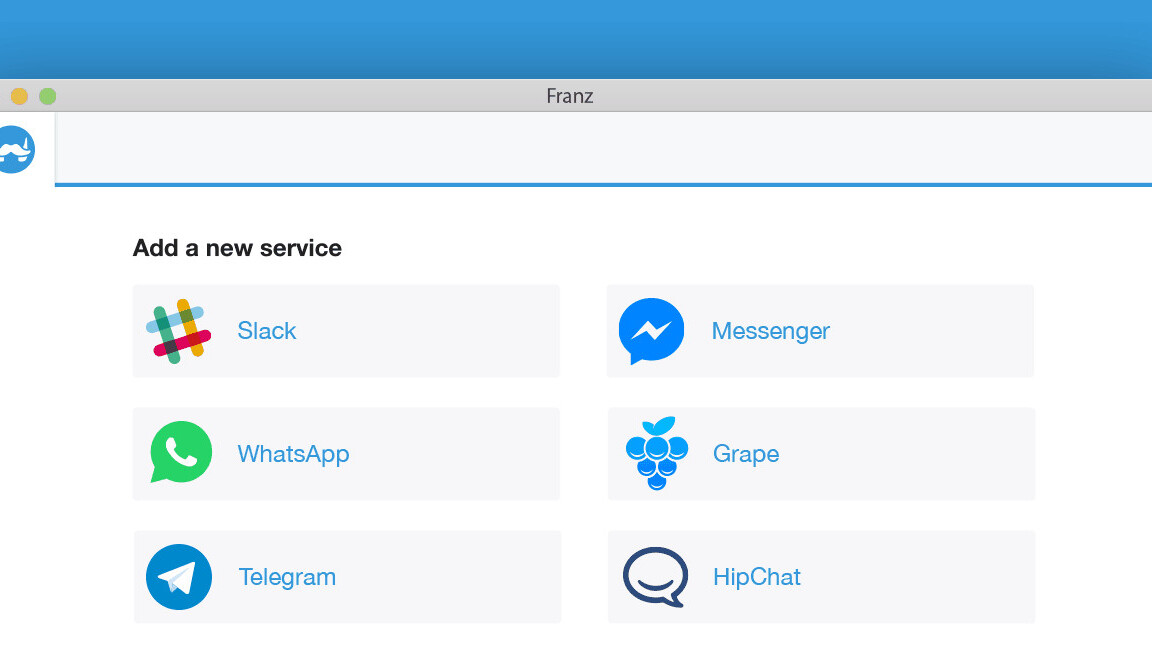 Franz for Mac puts all your chat services in a single place