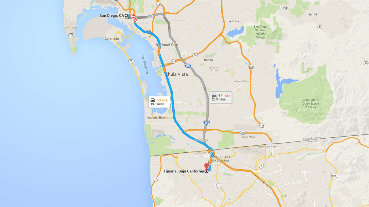 Uber just announced one-way trips from California to Tijuana