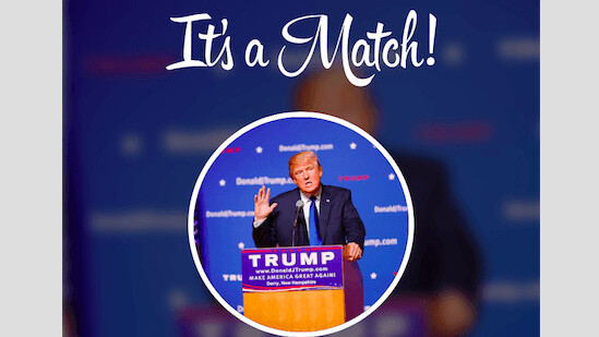 Tinder wants to see if you should hook up with Donald Trump