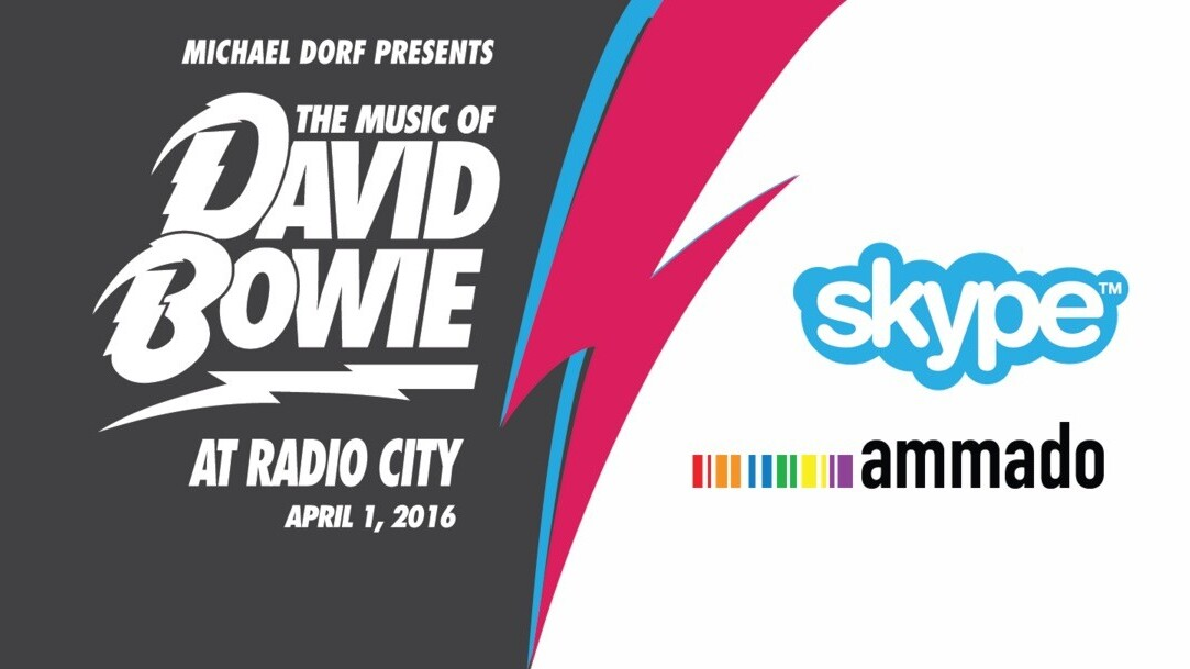 Please rate this concert: Skype to live stream Bowie tribute show from Radio City