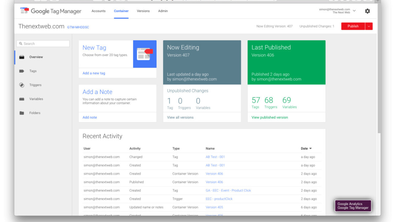 Marketing the TNW Way #9: A/B Testing with Google Tag Manager