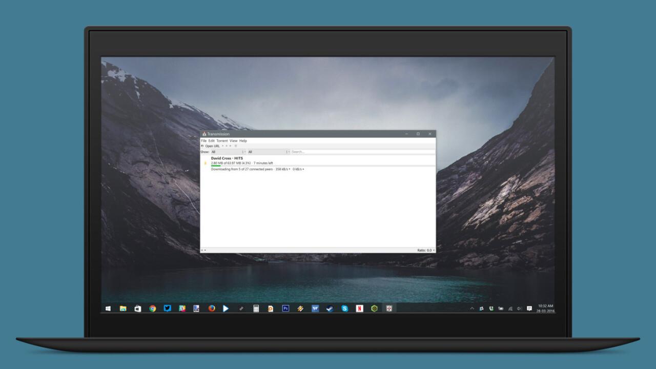 Transmission brings its beloved BitTorrent client to Windows