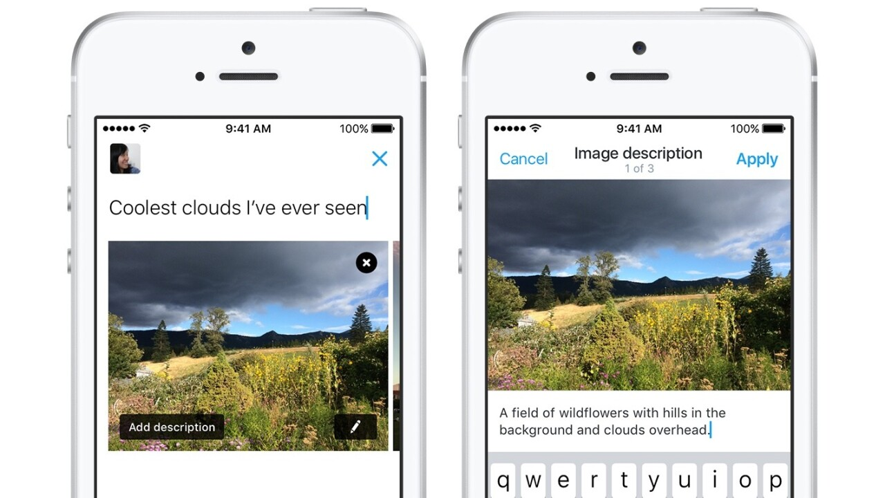 Twitter's new image description feature unlocks accessibility for the visually impaired