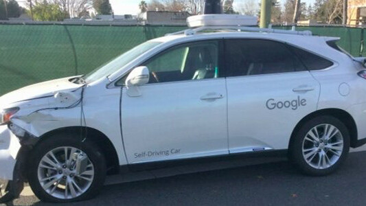 Watch a video of Google's self-driving car hit a bus