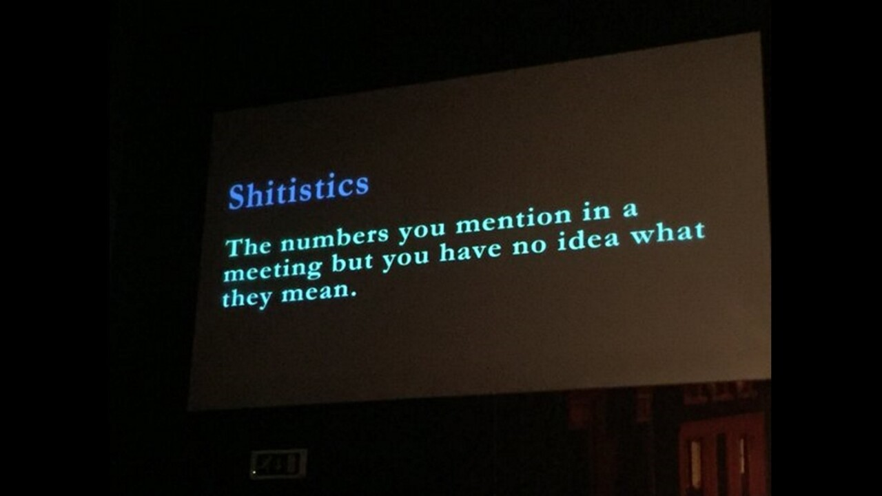 Shitistics: Startup slang that should exist but doesn't (yet)