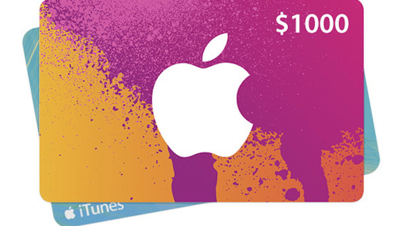 Win a $1,000 iTunes gift card for music, apps, games, and more