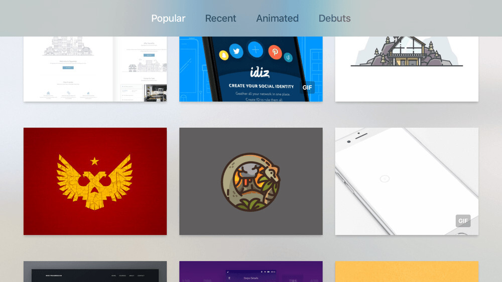 Draftly is an Apple TV Dribbble client for the rare designer who's also a couch potato