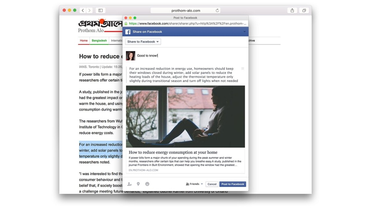 Facebook's new Quote sharing feature lets you share text snippets with style