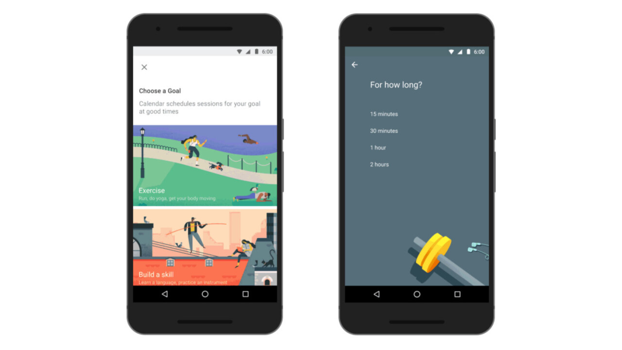 No more excuses: Google Calendar can now help you stick to your goals