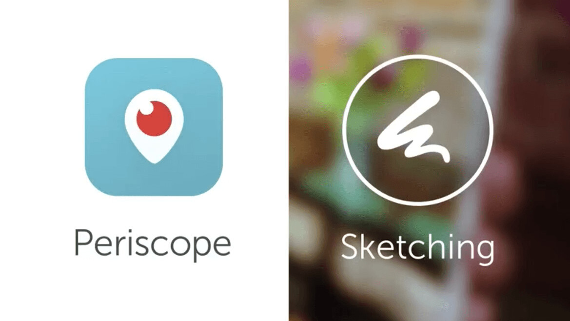 Periscope has officially unveiled its sketching feature for livestreams