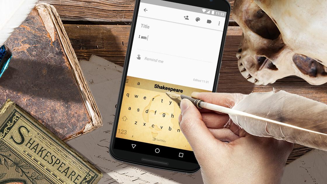 SwiftKey's new keyboard will help you text like Shakespeare