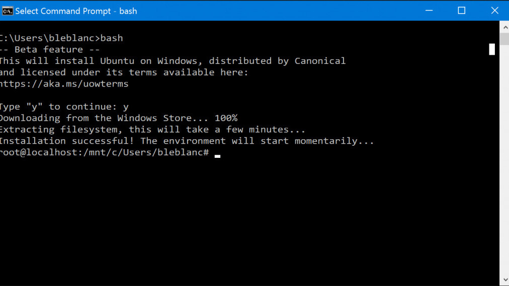 Microsoft drops Windows 10 Anniversary Update preview, including Bash and a dark theme