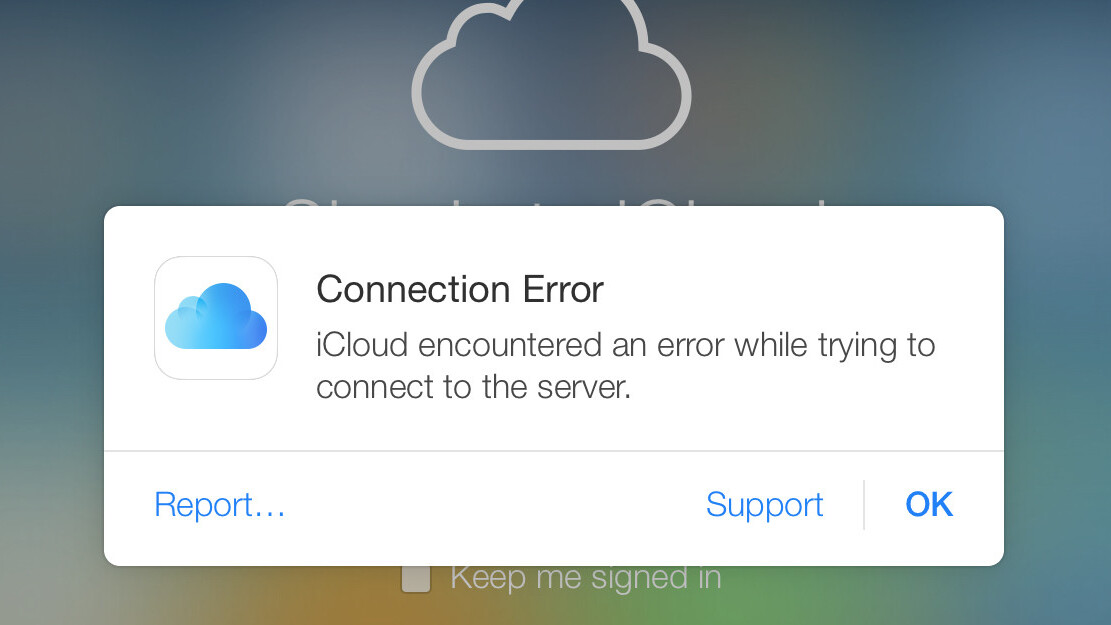 iCloud is down for some users