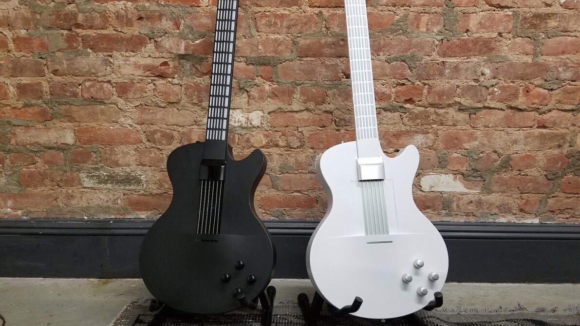 This electronic guitar will let even the most musically-challenged learn to play