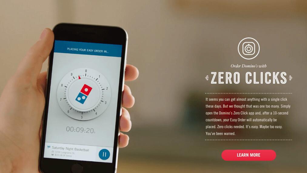 Domino's Zero Click pizza ordering app is a butt dialer's nightmare