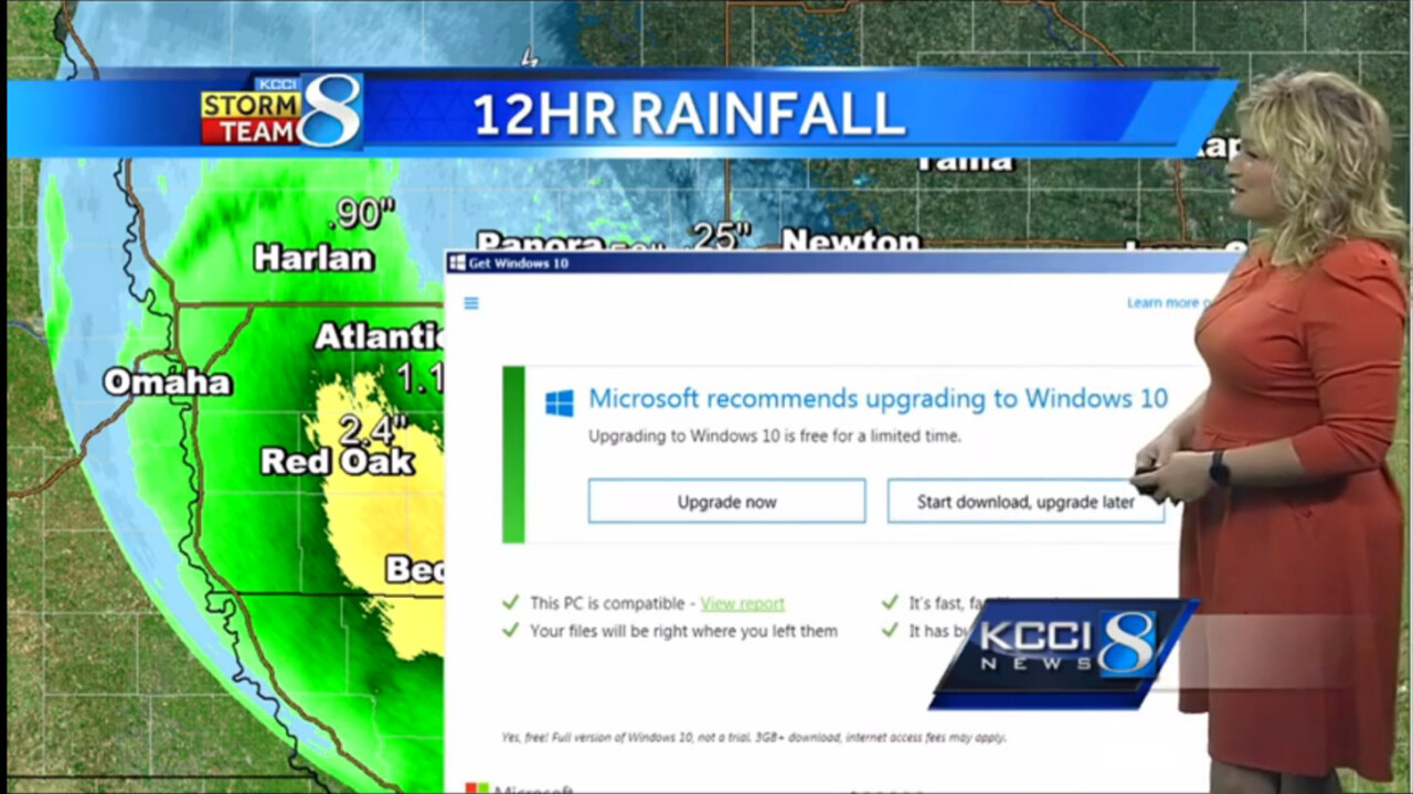 Windows 10 upgrade interrupts weather report, presenter does the same thing you do