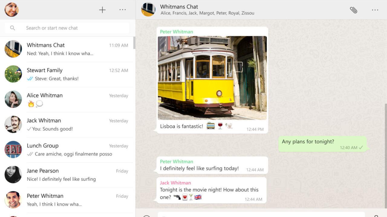 WhatsApp now has an official desktop app for Windows and Mac