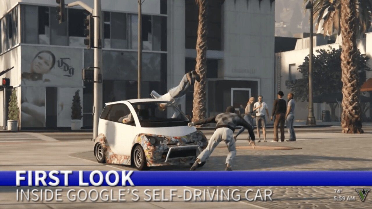 'Grand Theft Auto' is now a legit tool to train self-driving cars
