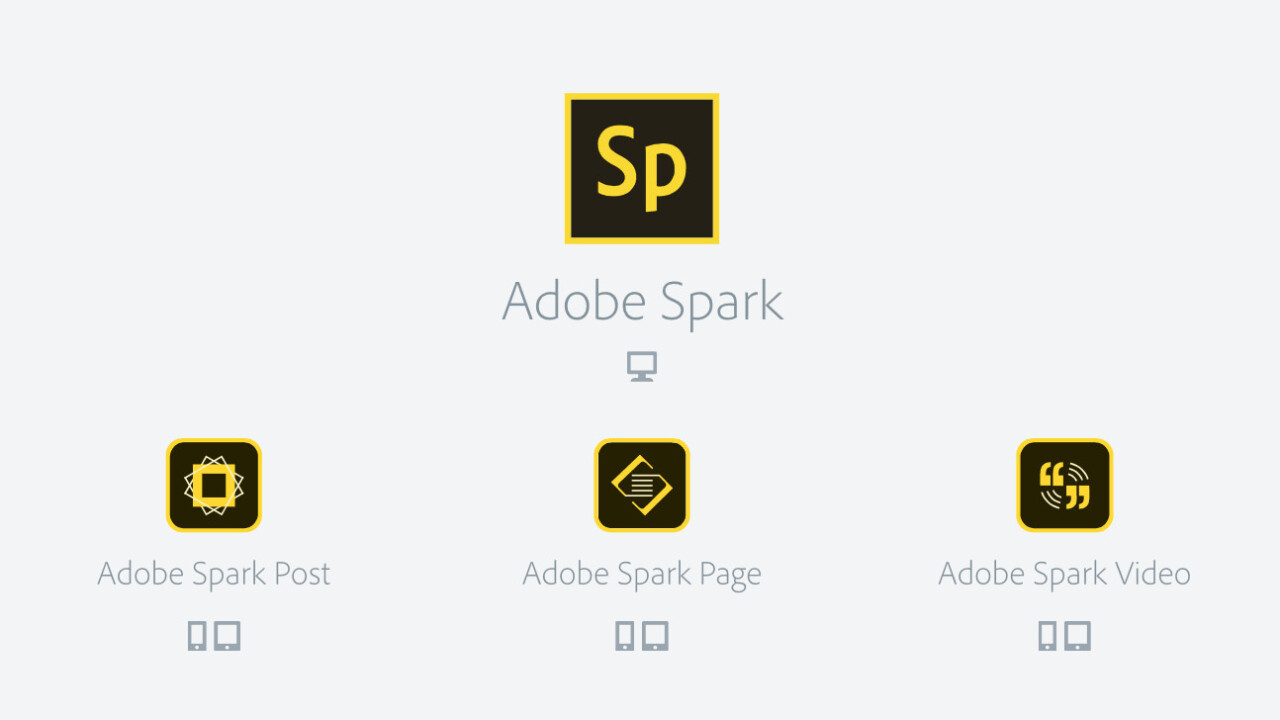 Adobe Spark is a three-app suite for easy website, video or flyer creation