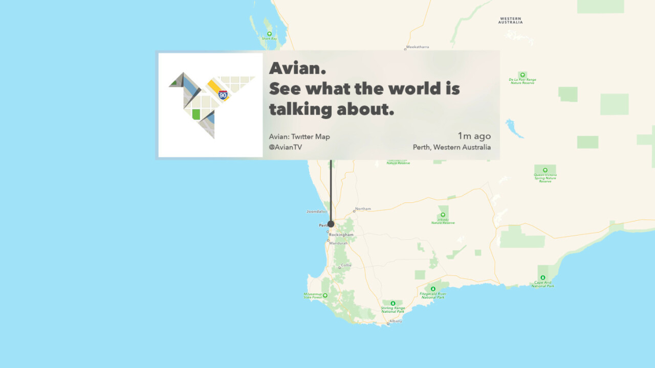 Avian for Apple TV beautifully reimagines Twitter as an interactive map