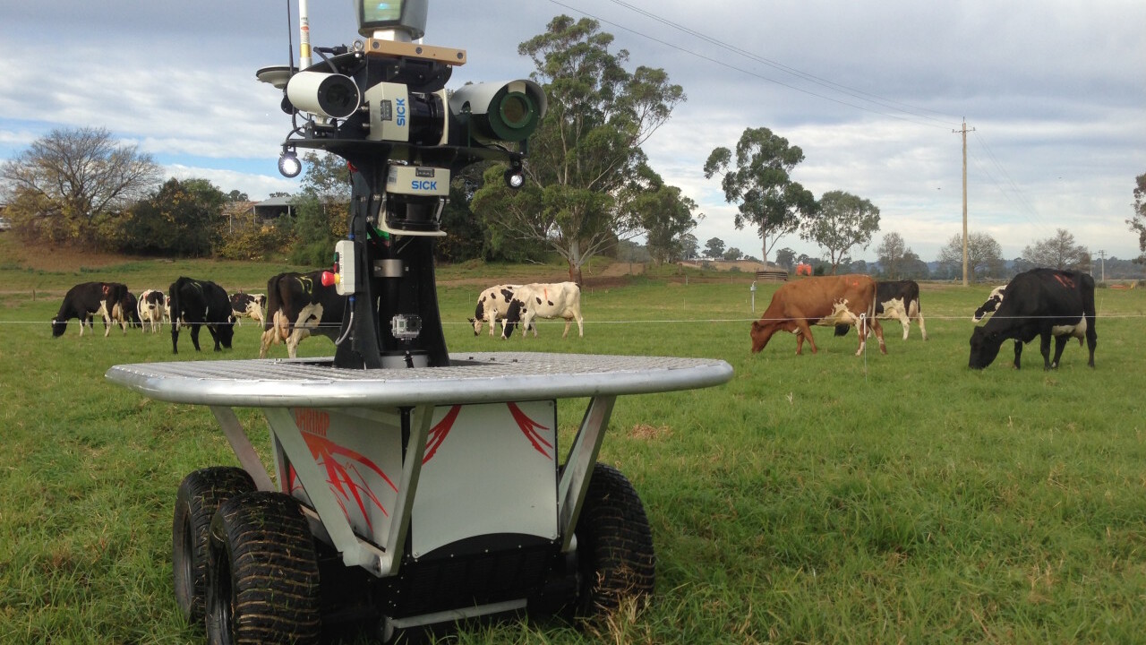 This is the robot that will shepherd and keep livestock healthy