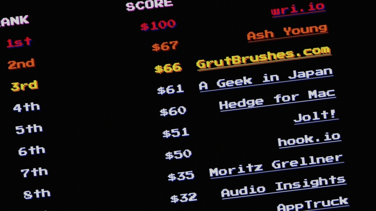 Time-waster of the day: Highscore.money