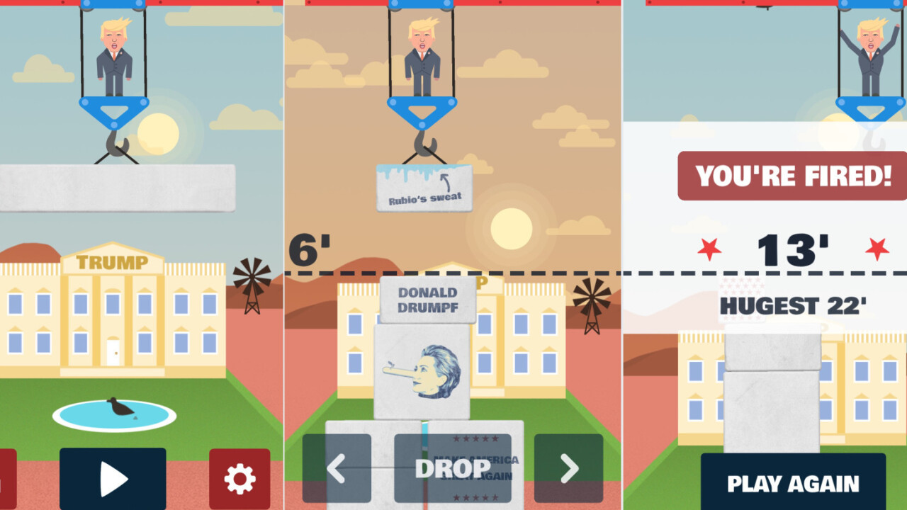 'Trump's Wall' is an iOS game that (unlike Trump) is actually pretty enjoyable