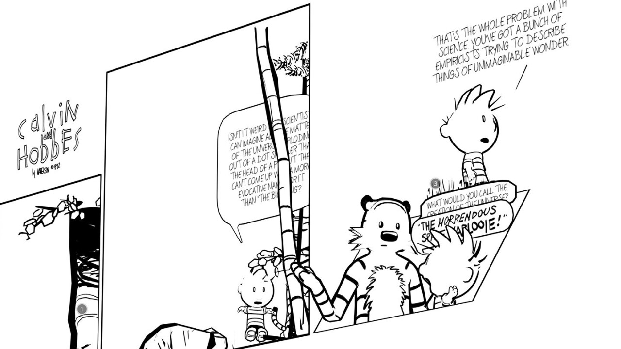 This is what Calvin and Hobbes comics look like in 3D