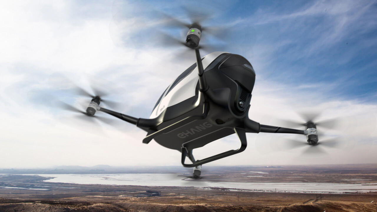 Ehang will test the world's first passenger drone in Nevada this year